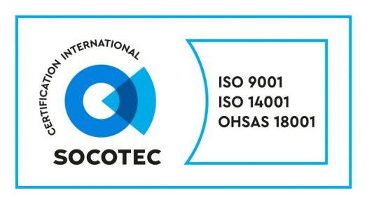Certifications ISO 9001 & 14001  : v2015 ; OHSAS 18001 : v2007