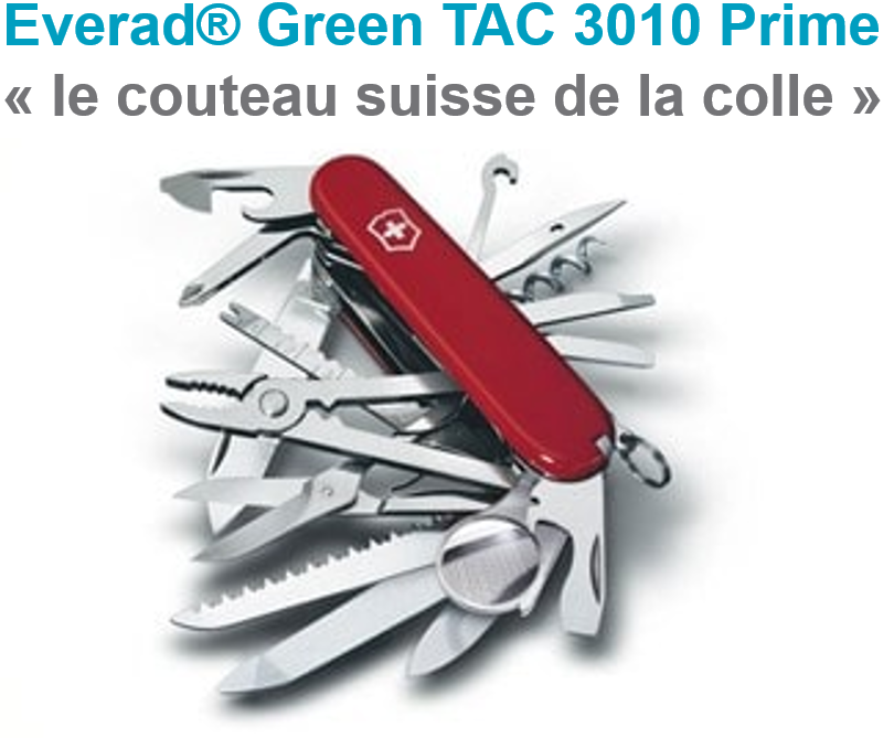 Everad® présente Everad® Green TAC 3010 Prime : la colle contact aqueuse simple encollage sans chlore que vous attendiez !